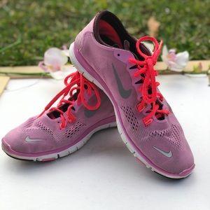 Nike Free TR Fit 4 running sneakers in pink